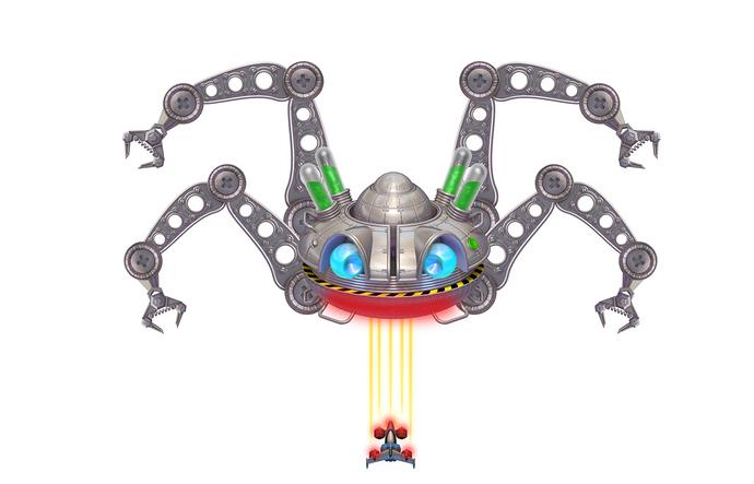 Giant Spacial Robatic Crab