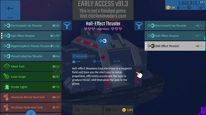Legendary Hall effect inventory