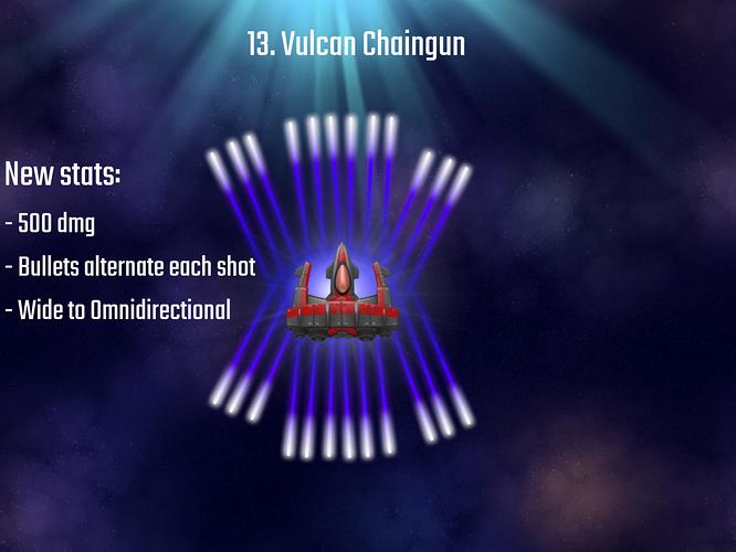Vulcan Chaingun Bombers
