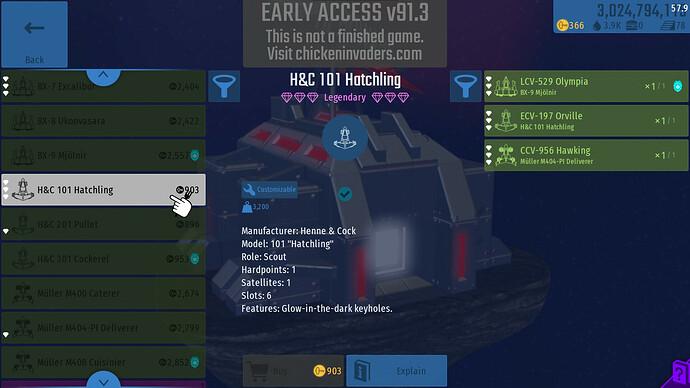 Legendary 101 Hatchling Inventory
