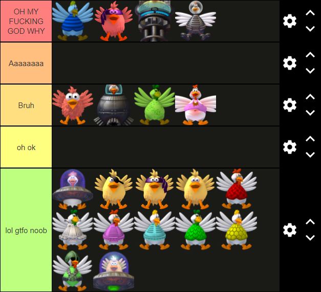 Create a Chicken Annoyance Scale Tier List - TierMaker - Google Chrome 10_19_2020 10_18_08 PM